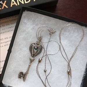 New Alex And Ani raven key necklace silver